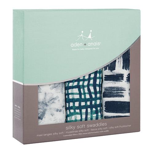 Langes Aden + Anais Seaport silky soft swaddles  Pack de 3