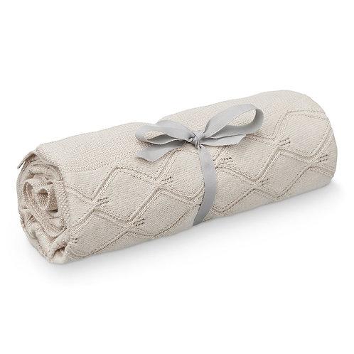 Cam Cam Couverture bébé tricot coton bio Sable