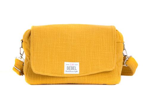 Bebel Pack sac à langer et attaches poussette Mini Moutarde