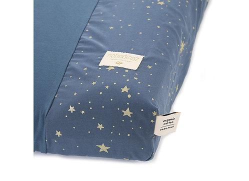 Nobodinoz Housse de matelas à langer Calma Gold Stella Night Blue