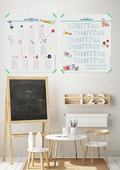Les jolies Planches Planches Pack Conjugaison et Multiplication Bonbons