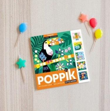 Poppik Cartes et gommettes Tropical