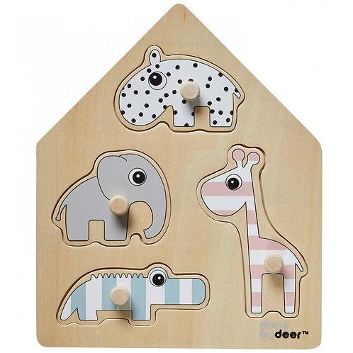 Done by Deer Puzzle premier âge en bois