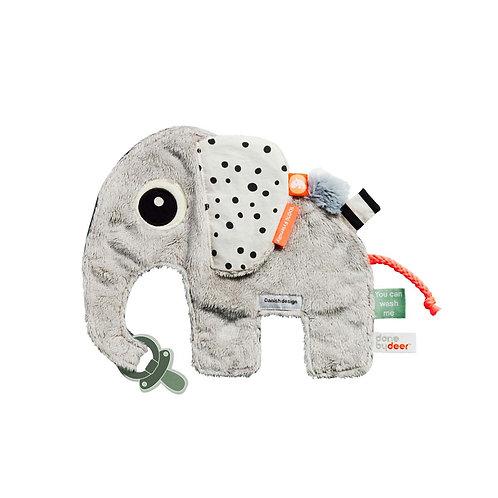 Done by Deer Attache tétine Doudou plat d'activité Elphee l'éléphant