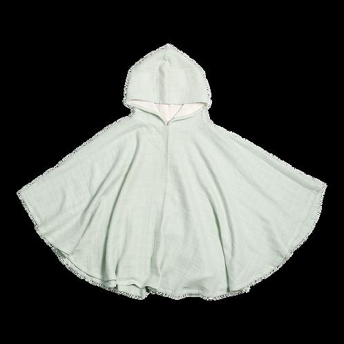 Poncho Fabelab en coton bio Vert Jade