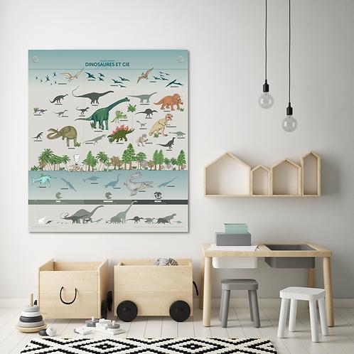 Les jolies Planches Planches Dinosaures et Cie 70*80 cm