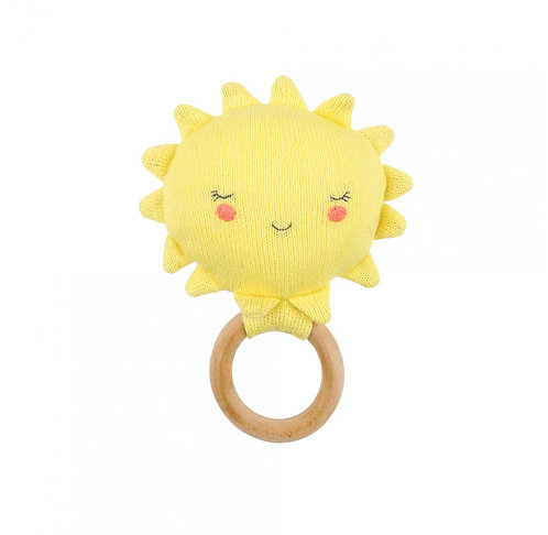 Meri Meri Hochet bébé soleil tricoté