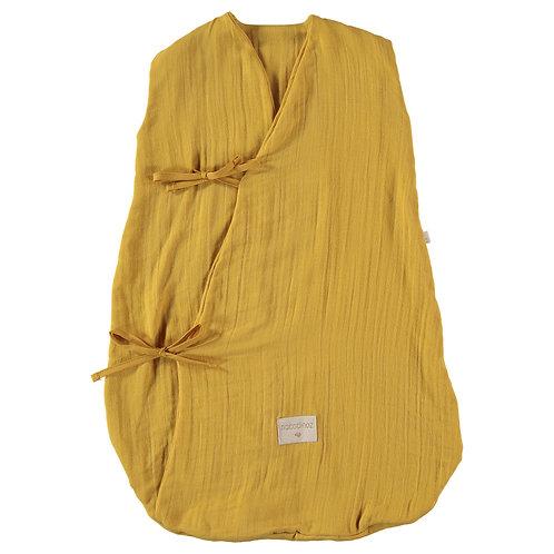 Gigoteuse d'été Nobodinoz Dreamy Yellow farniente coton gaze Moutarde