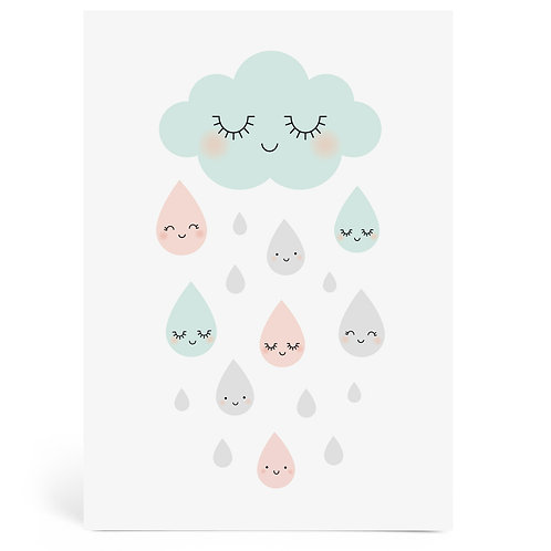Zü Grande Carte Douce pluie Zü