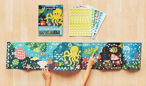 Poppik Poster et Gommettes Aquarium