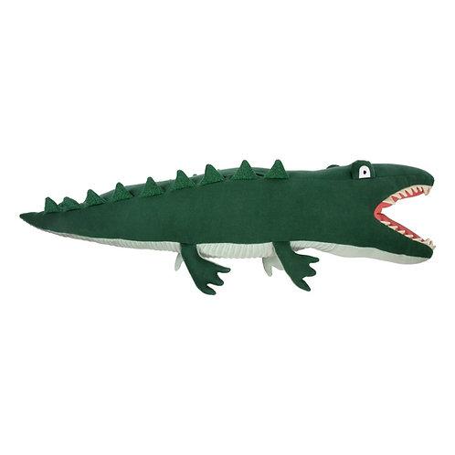 Meri Meri Coussin Doudou Aligator en coton bio
