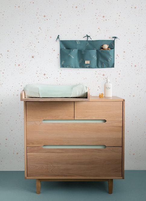 Commode 4 tiroirs Pure Chêne et Table à Langer Nobodinoz
