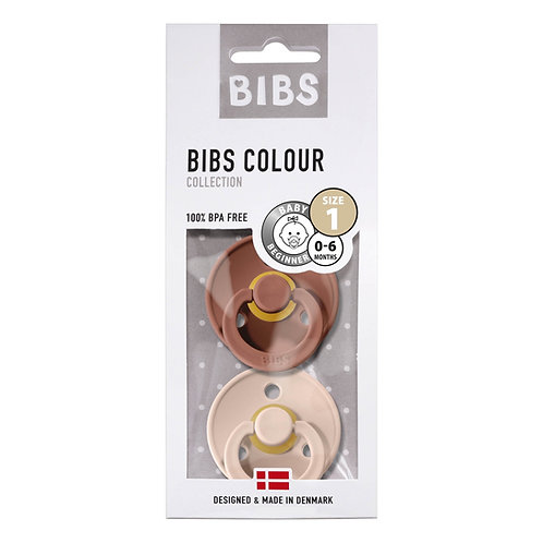 Bibs Pack de 2 tétines Terracotta / Rose poudré