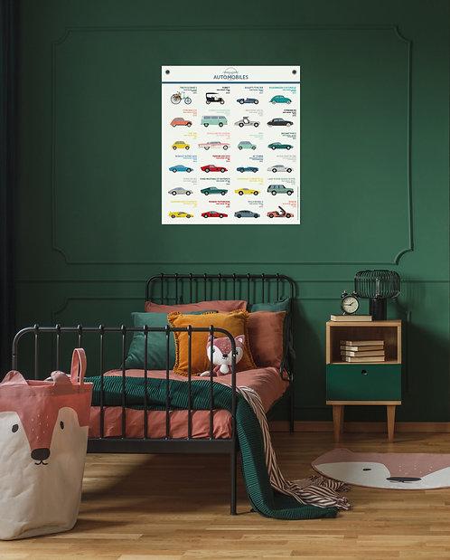 Les jolies Planches Planches Automobiles 70*80 cm