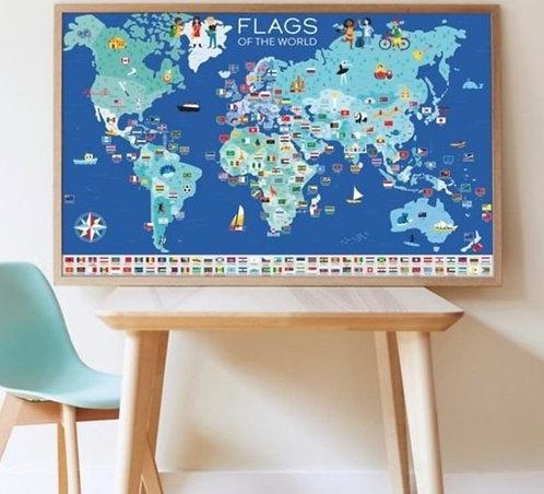 Poppik Poster en stickers Drapeaux du Monde