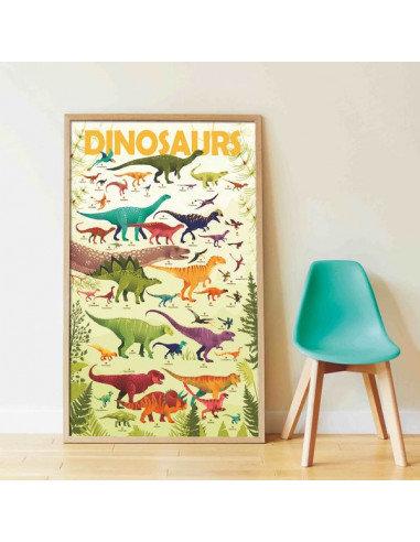 Poppik Poster en stickers Dinosaures