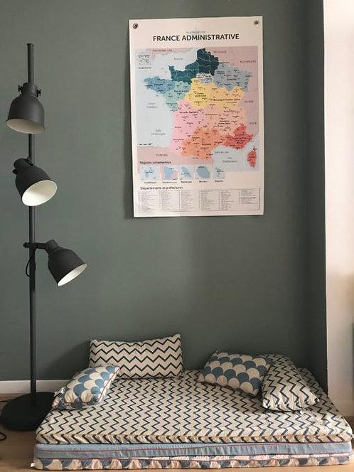 Les jolies Planches Planches La France Administrative 70*103.5 cm