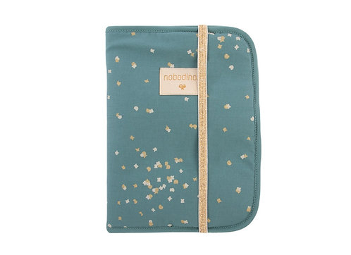 Nobodinoz Protège Carnet de Santé Poema Confetti Magic Green