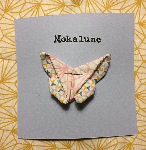 Barrette moyen format Rose géométrique  Nokalune