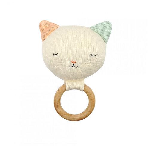Meri Meri Hochet bébé Chat tricoté