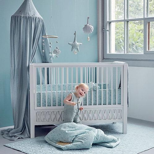 Lit bébé évolutif Harlequin avec barreaux - CamCam