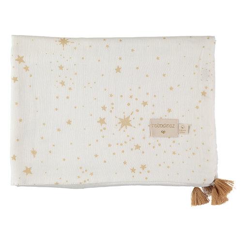 Couverture d'été Nobodinoz Treasure Gold stella blanc
