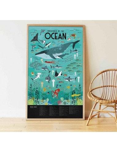 Poppik Poster en stickers océans