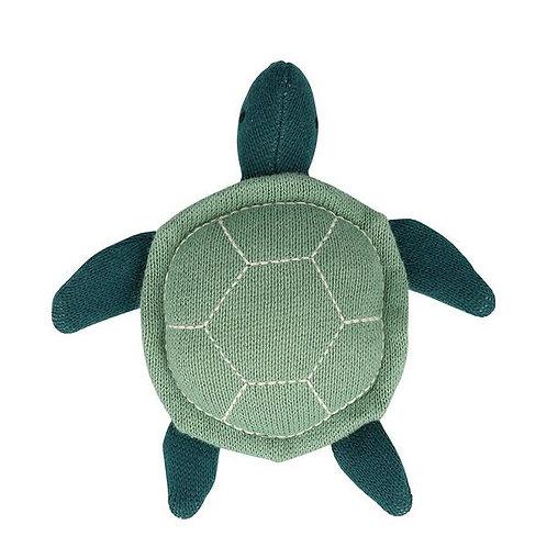 Meri Meri Hochet bébé tortue tricoté bio