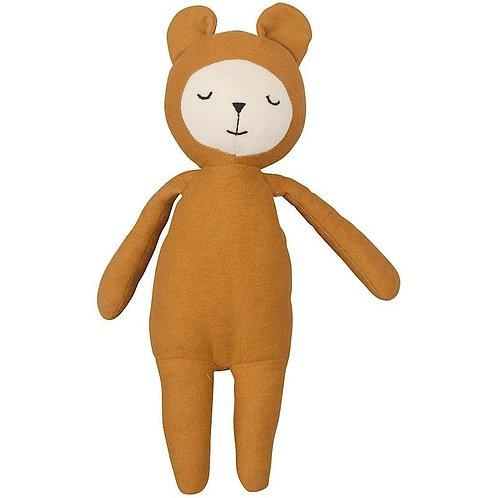 Fabelab Doudou lange ours miel en coton bio