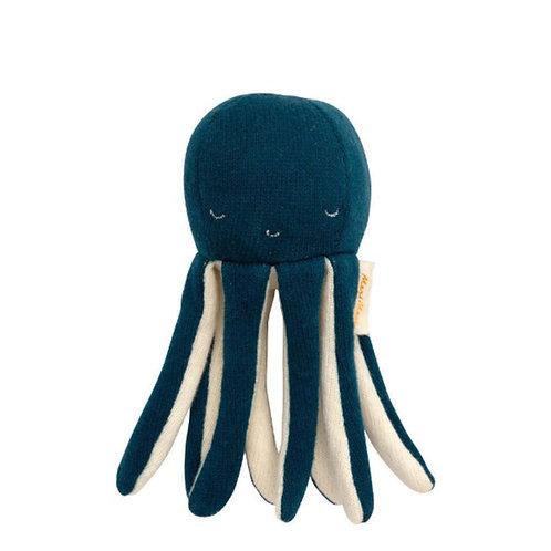 Meri Meri Hochet bébé poulpe pieuvre tricoté bio
