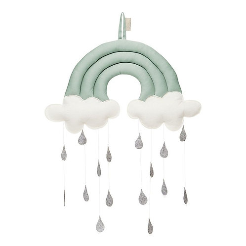 Cam Cam Mobile en coton bio Arc-en-ciel vert d'eau