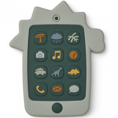 Liewood Téléphone de dentition Dino en silicone Thomas Vert d'eau