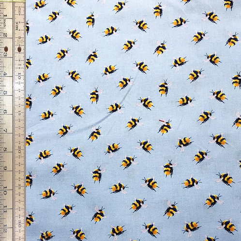 Bees on Blue