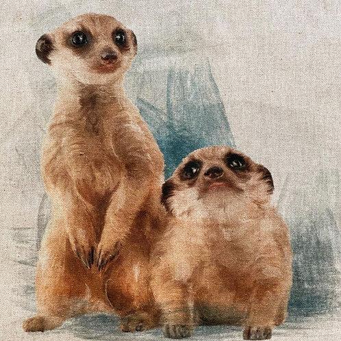 Meerkat Linen Panel
