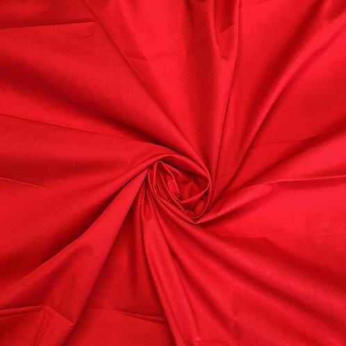 Plain Red Polycotton