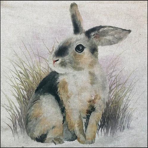 Rabbit Linen Panel