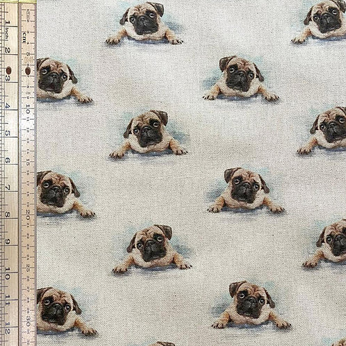 Pug Cotton Linen