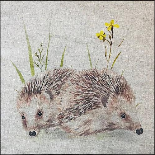 Hedgehogs Linen Panel