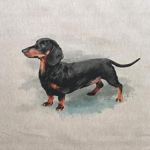 Sausage Dog Linen Panel