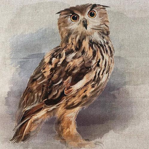 Owl Linen Panel