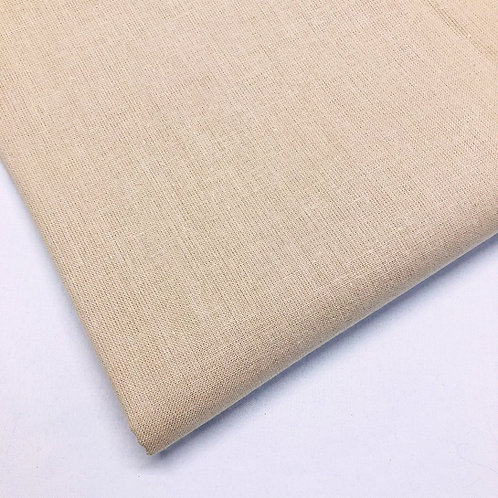 Plain Beige Cotton