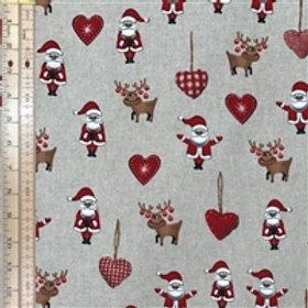 Santa Cotton Linen