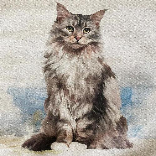 Cat Linen Panel