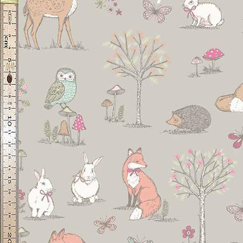 Woodland Animals Taupe