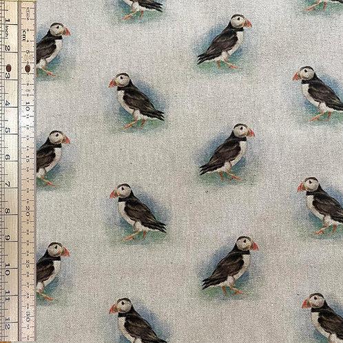 Puffins Cotton Linen