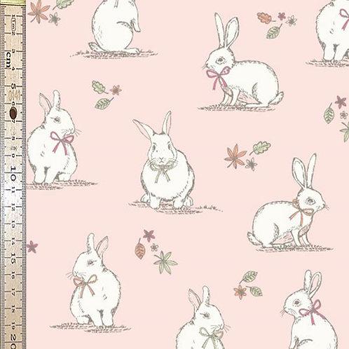 Woodland Bunnies Pink