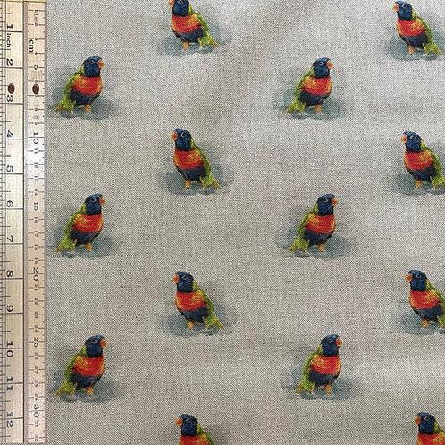Rainbow Parrot Cotton Linen