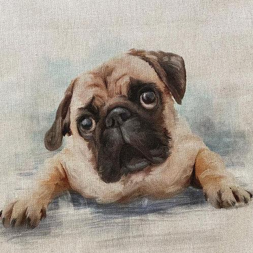 Pug Linen Panel