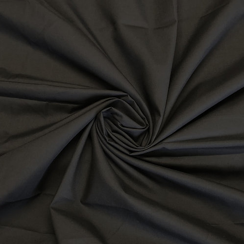 Plain Black Polycotton