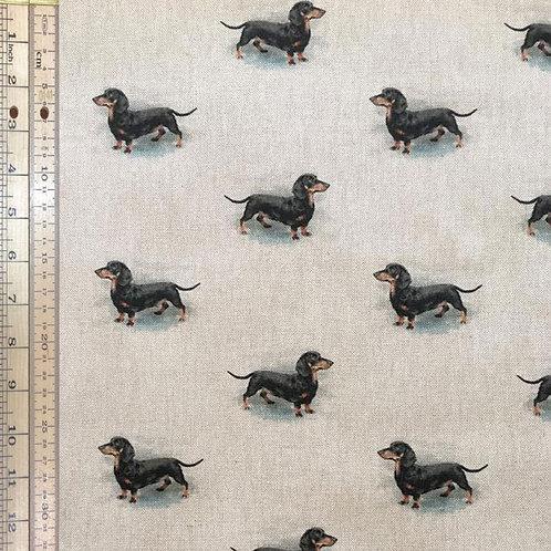 Sausage Dogs Cotton Linen